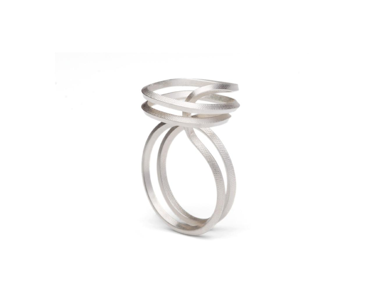 ring SQUAROUND silver