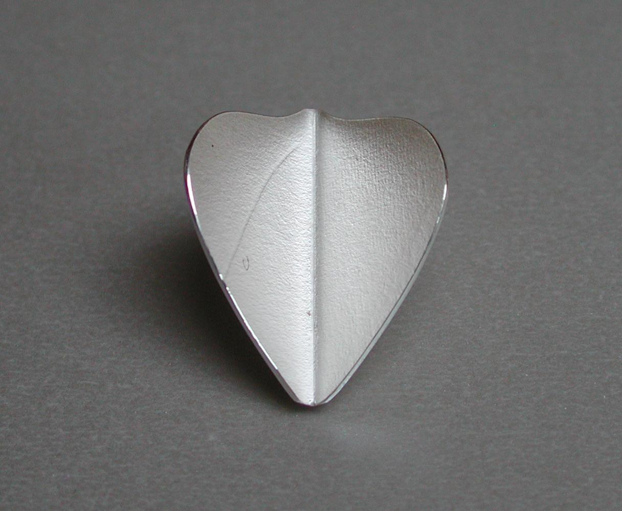 brooch HEART silver