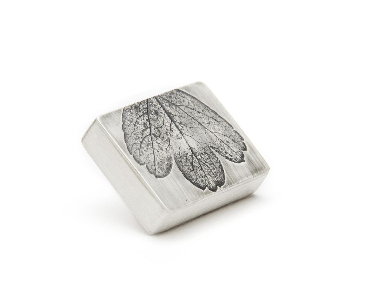 sierspeld broche zilver